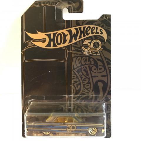Hot Wheels - 64 Impala - Black and Gold 50th Anniversary Hot Wheels