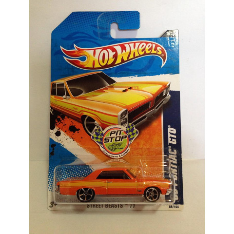 Hot Wheels - 65 Pontiac GTO Laranja -  Mainline 2011