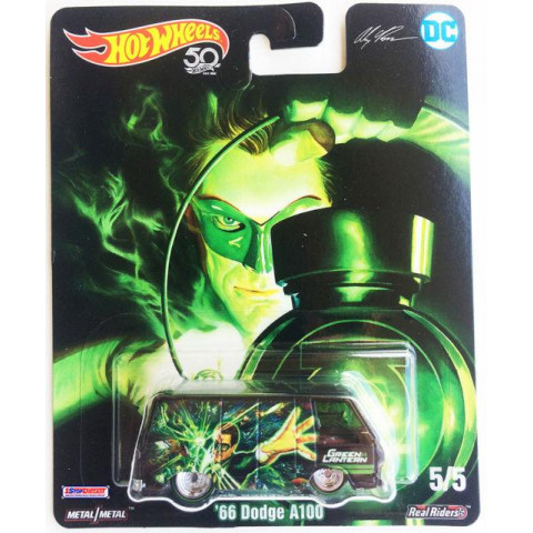 Hot Wheels - 66 Dodge A100 Preto - Green Lantern - Lanterna Verde - DC Comics