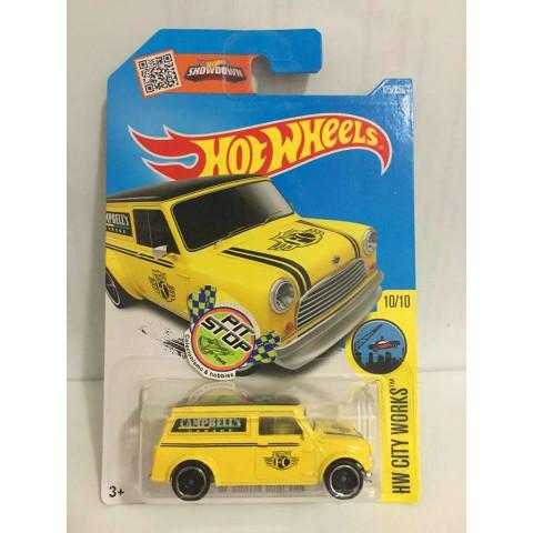 Hot Wheels - 67 Austin Mini Van Amarelo - Mainline 2016
