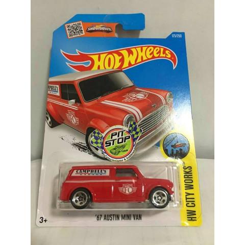 Hot Wheels - 67 Austin Mini Van Vermelho - Mainline 2016