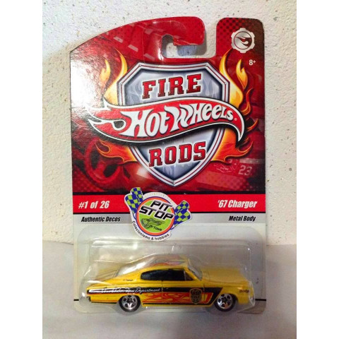 Hot Wheels - 67 Charger Amarelo - Fire Rods