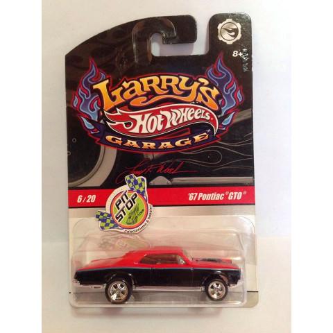 Hot Wheels - 67 Pontiac GTO Vermelho - Larrys Garage