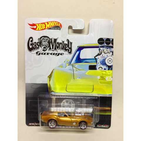 Hot Wheels - 68 Corvette Dourado - Gas Monkey Garage