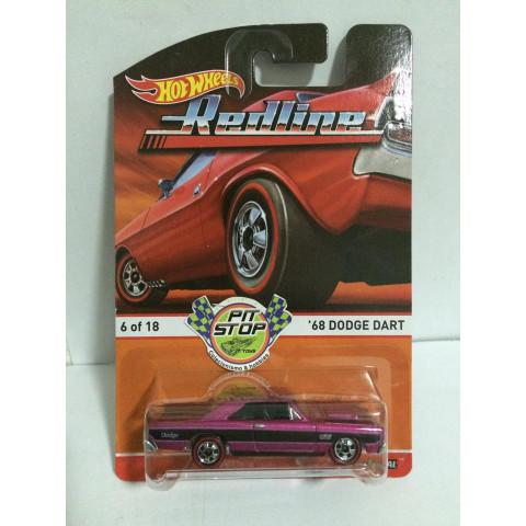 Hot Wheels - 68 Dodge Dart Rosa - Heritage - Redline
