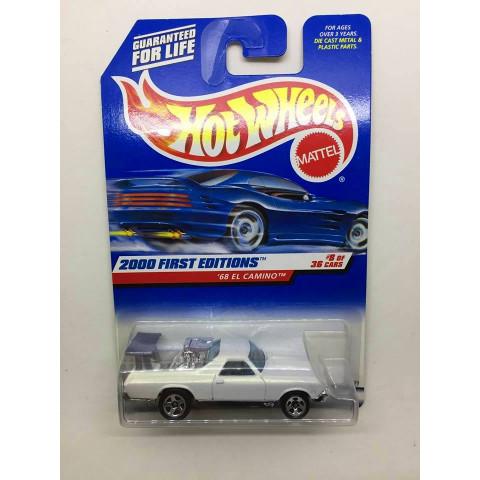 Hot Wheels - 68 El Camino Branco - Mainline 2000
