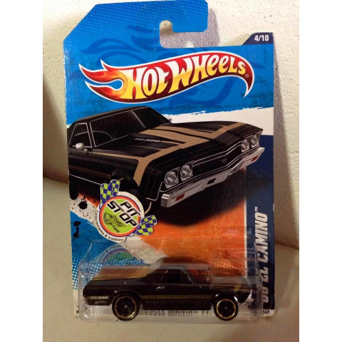 Hot Wheels - 68 El Camino Preto - Mainline 2011