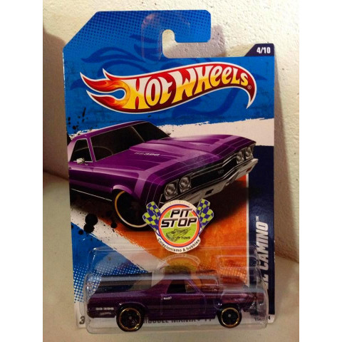 Hot Wheels - 68 El Camino Roxo - Mainline 2011