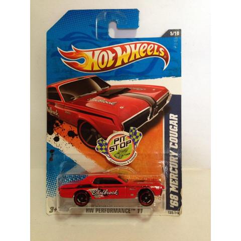 Hot Wheels - 68 Mercury Cougar Vermelho -  Mainline 2011