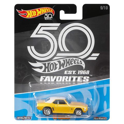 Hot Wheels - 69 Camaro Amarelo - Favorites 50 Years