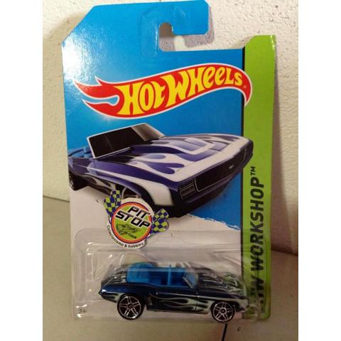 Hot Wheels - 69 Camaro Azul - Mainline 2014