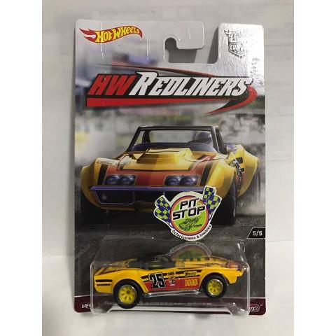 Hot Wheels - 69 Corvette Racer - HW Redliners - Car Culture
