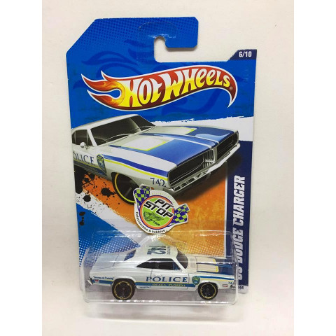 Hot Wheels - 69 Dodge Charger Branco - Mainline 2011