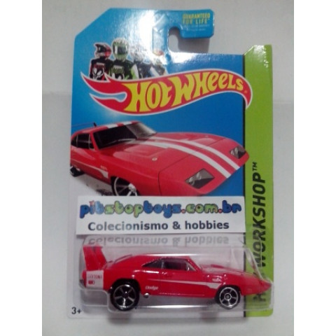 Hot Wheels - 69 Dodge Charger Daytona Vermelho - Mainline 2014