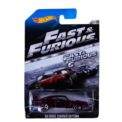 Hot Wheels - 69 Dodge Charger Daytona Vinho - Fast Furious 6