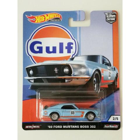 Hot Wheels - 69 Ford Mustang Boss 302 Azul - Gulf