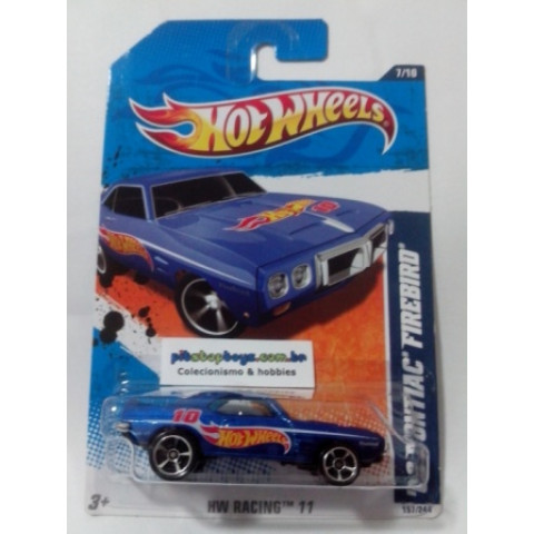 Hot Wheels - 69 Pontiac Firebird Azul - Mainline 2011