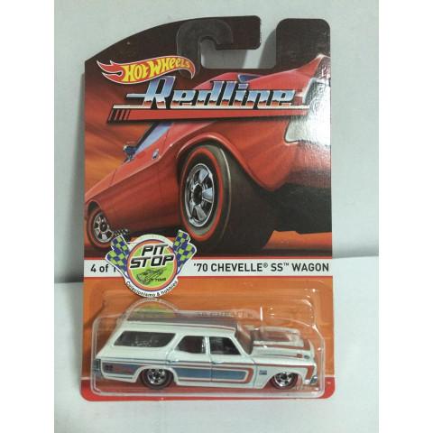 Hot Wheels - 70 Chevelle SS Wagon Branco - Heritage - Redline
