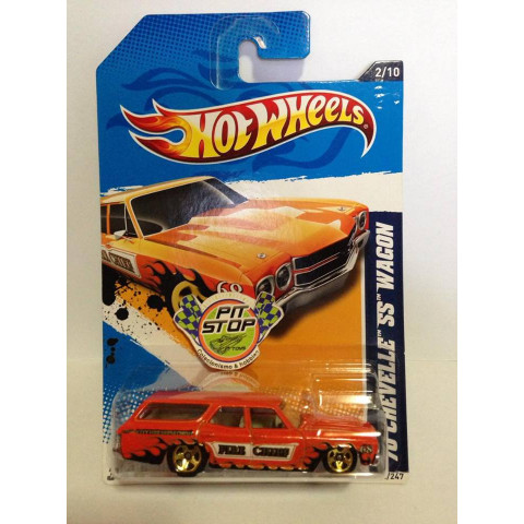 Hot Wheels - 70 Chevelle SS Wagon Laranja - Mainline 2012