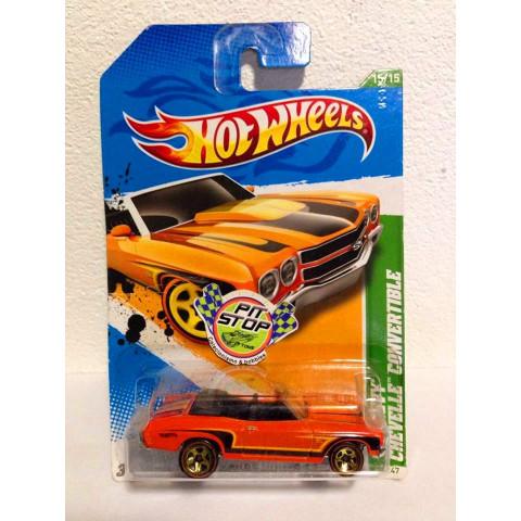 Hot Wheels - 70 Chevy Chevelle Convertible Laranja - Treasure Hunt 2012