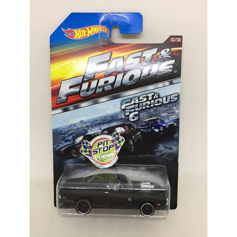 Hot Wheels - 70 Dodge Charger R/T Preto - Fast & Furious 6