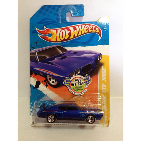 Hot Wheels - 70 Pontiac GTO Judge Azul -  Mainline 2011