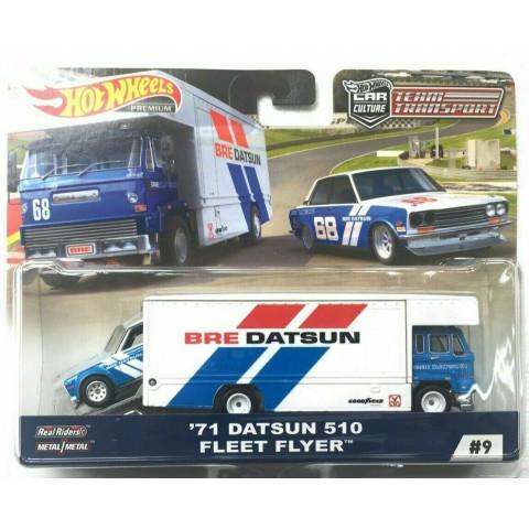 Hot Wheels - 71 Datsun 510 - Fleet Flyer - Team Transport