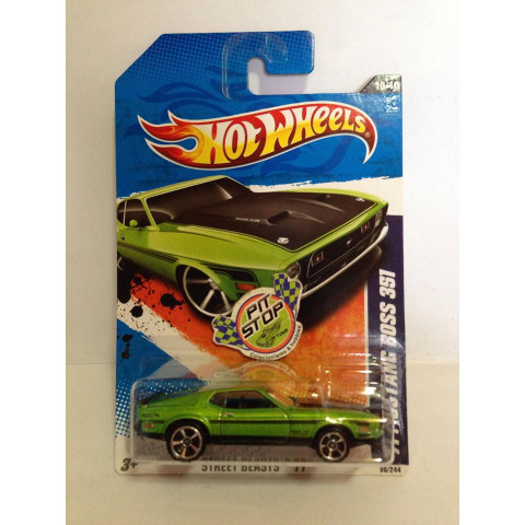 Hot Wheels - 71 Mustang Boss 351 Verde -  Mainline 2011