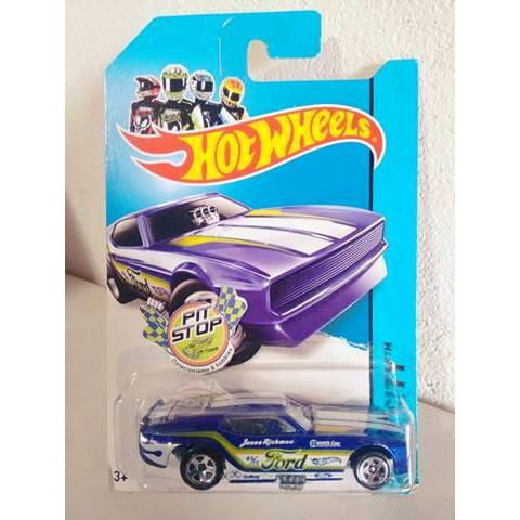 Hot Wheels - 71 Mustang Funny Car Azul - Mainline 2014