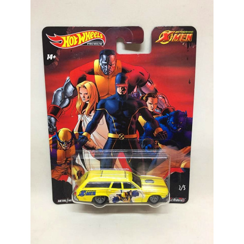Hot Wheels - 71 Plymouth Satellite Amarelo - X-Men - HW Premium