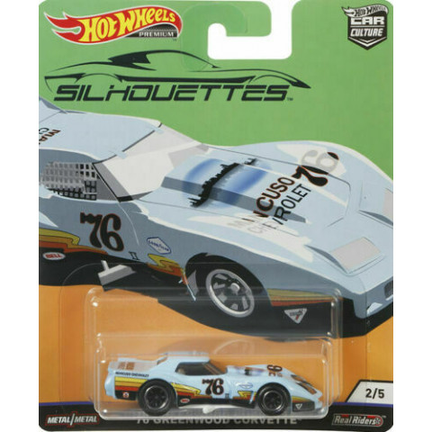 Hot Wheels - 76 Greenwood Corvette - Silhouettes - Car Culture