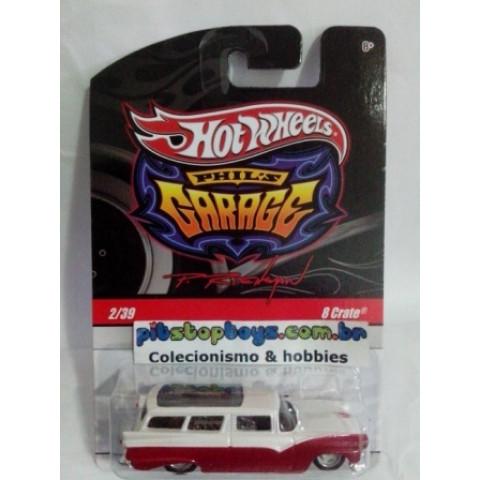 Hot Wheels - 8 Crate Branco_Vermelho - Garage