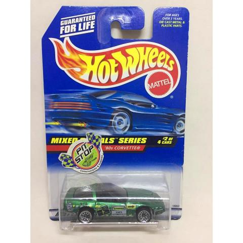 Hot Wheels - 80s Corvette Verde - Mainline 1998
