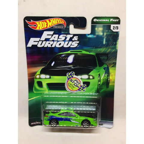 Hot Wheels - 95 Mitsubishi Eclipse Verde - Fast & Furious - Original Fast - HW Premium