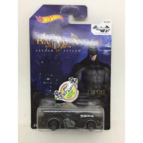 Hot Wheels - Arkham Asylum Batmobile Preto - 75 Years of Batmobile