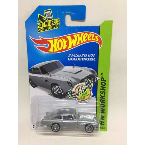 Hot Wheels - Aston Martin 1963 DB5 Prata - James Bond 007 Goldfinger - Mainline 2014