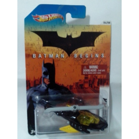 Hot Wheels - Batcóptero Preto - Batman Begins