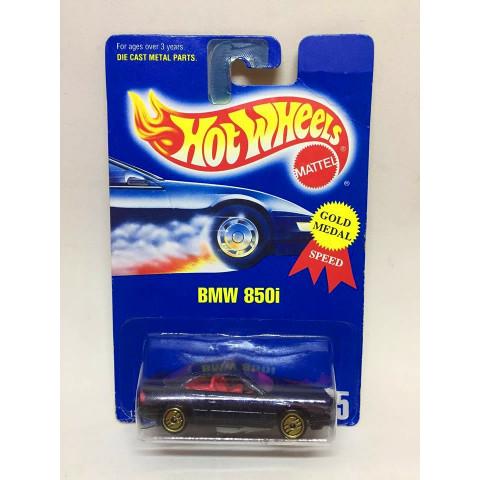 Hot Wheels - BMW 850i Preto - Mainline 1992