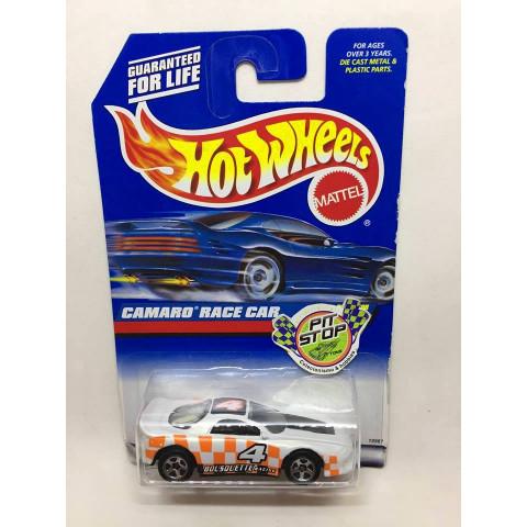 Hot Wheels - Camaro Racer Car Branco - Mainline 1998