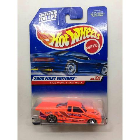 Hot Wheels - Chevy Pro Stock Truck Laranja - Mainline 2000