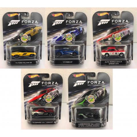 Hot Wheels - Coleção Forza Motorsport Completa - Retro
