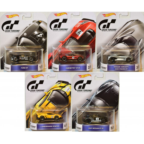 Hot Wheels - Coleção Gran Turismo Completa - Retro
