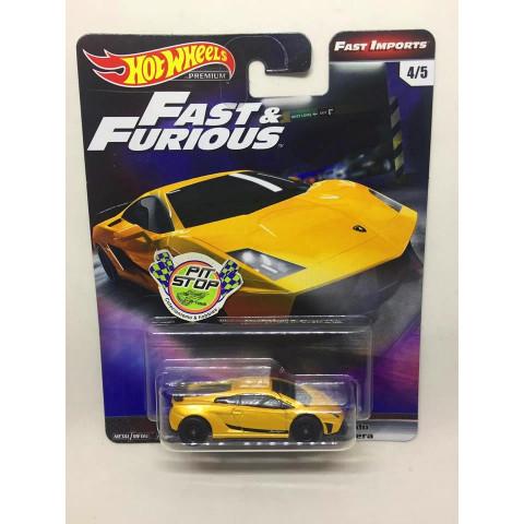 Hot Wheels - Lamborghini Gallardo LP 570-4 Superleggera Amarelo - Fast & Furious - Fast Imports