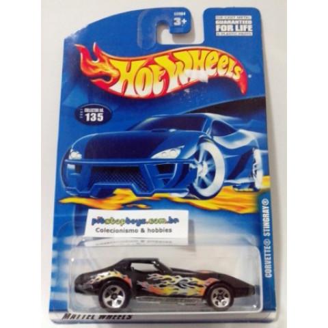 Hot Wheels - Corvette Stingray Preto - Mainline 2001