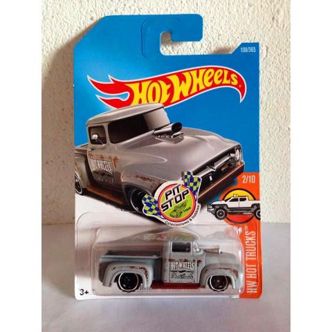 Hot Wheels - Custom 56 Ford Truck Cinza - Mainline 2017