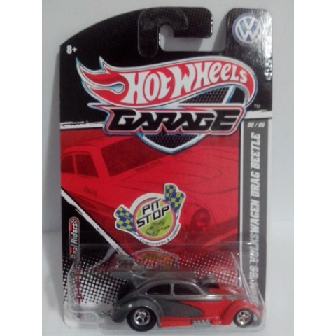 Hot Wheels - Custom 56 Volkswagen Drag Beetle Cinza - Garage