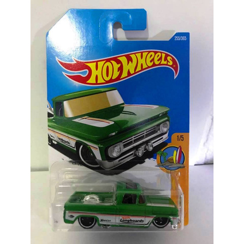 Hot Wheels - Custom 62 Chevy Pickup Verde - Mainline 2017
