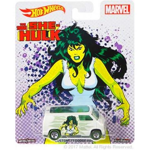 Hot Wheels - Custom 77 Dodge Van - She-Hulk - Marvel