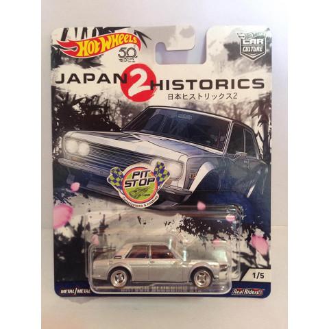 Hot Wheels - Datsun Bluebird 510 Prata - Japan Historics 2 - Car Culture