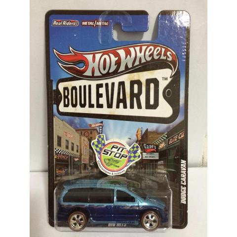 Hot Wheels - Dodge Caravan Azul - Boulevard - Leia